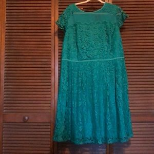Adrianna Papell Green Lace Dress